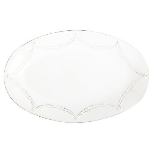 Berry & Thread Oval Platter, Whitewash