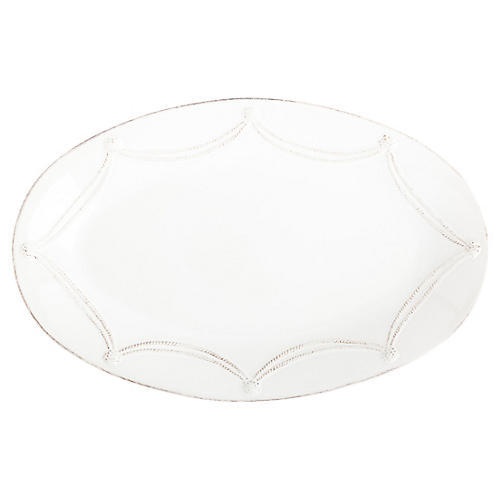Berry & Thread Oval Platter, Whitewash