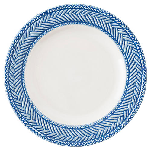 Le Panier Cocktail Plate, Delft Blue/White