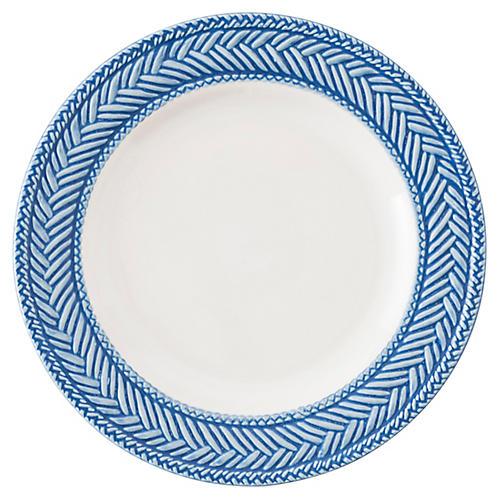 Le Panier Cocktail Plate, Delft Blue/White