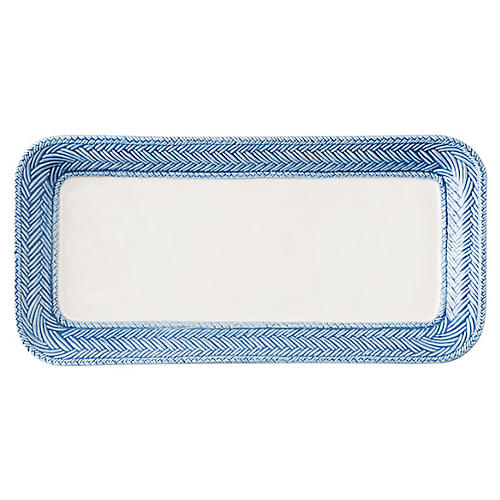 Le Panier Hostess Tray, White/Delft Blue