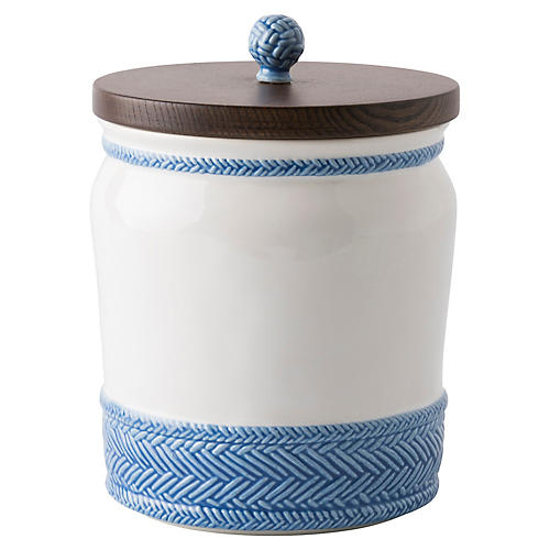 Le Panier Canister, Delft Blue/White