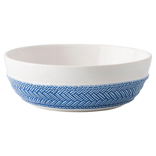 Le Panier Pasta Bowl, Delft Blue/White