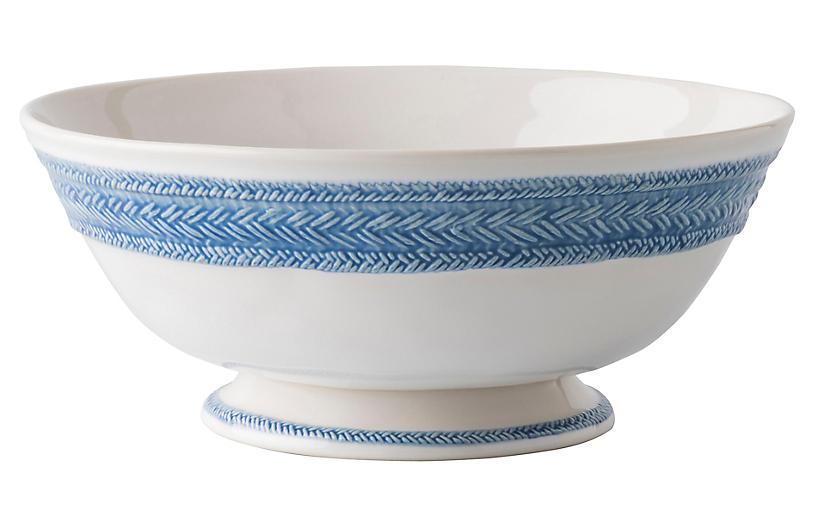Le Panier Footed Fruit Bowl, Delft Blue/White