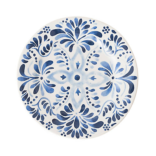 Iberian Journey Salad Plate, Indigo