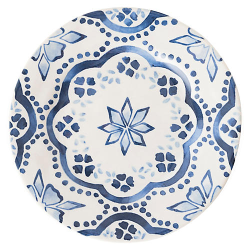 Iberian Journey Cocktail Plate, Indigo