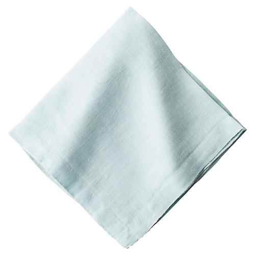 Heirloom Linen Napkin, Ice Blue