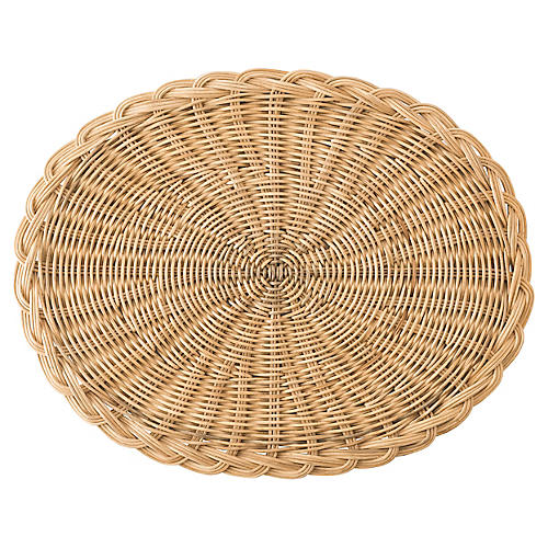 Braided Basket Oval Place Mat, Natural