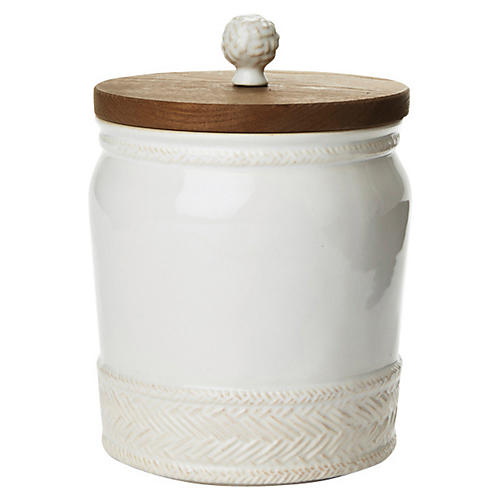 Le Panier Canister, White