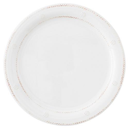 Melamine Berry & Thread Dinner Plate, White