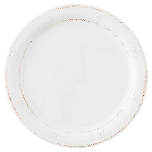 Melamine Berry & Thread Dinner Plate, White