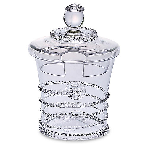 Amalia Sugar Pot, Clear
