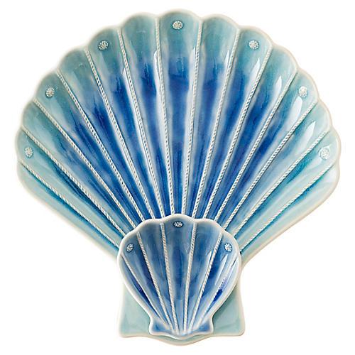 Shell Platter, Delft Blue