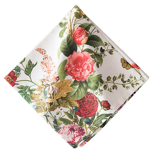 Field of Flowers Napkin, Pink/Multi