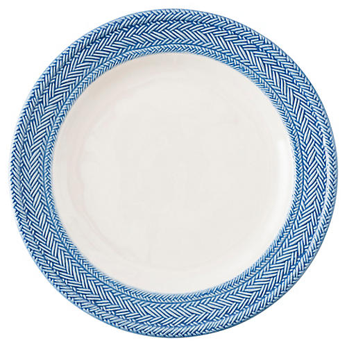 Le Panier Dinner Plate, Delft Blue/White