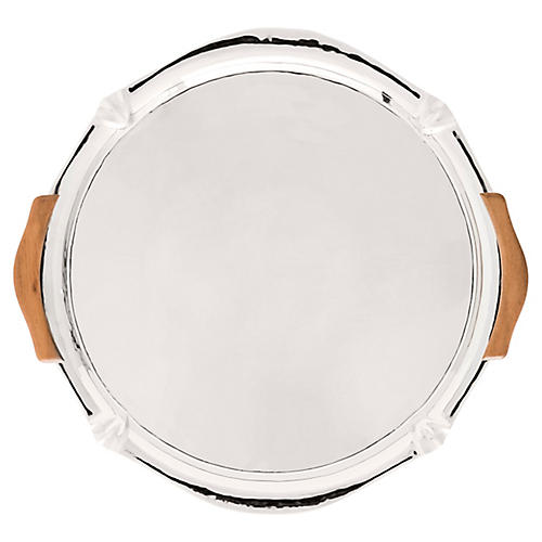 Kensington Handled Platter, Silver/Brown