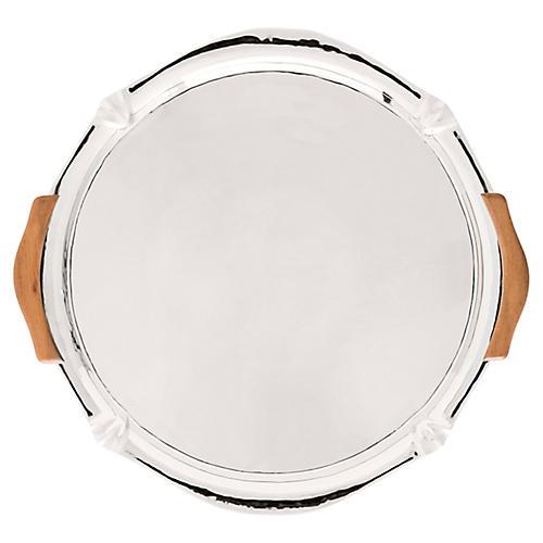 Kensington Handled Platter, Silver/Brown