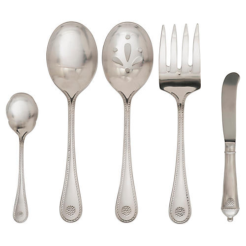 Asst. of 5 Berry & Thread Hostess Set, Silver