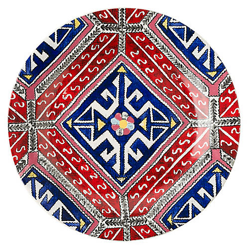 Tangier Salad Plate, Red/Multi