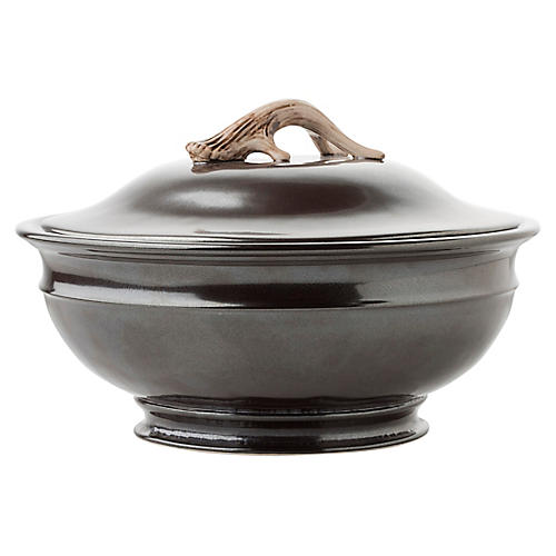 Forest Soup Tureen, Pewter