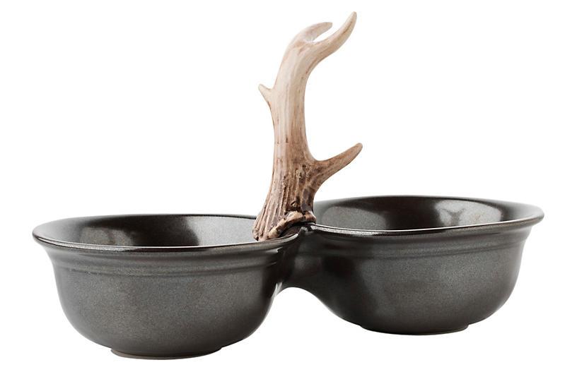 Forest Double Serving Bowl - Pewter - Juliska