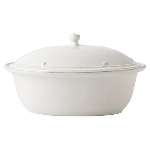 Berry & Thread Casserole Dish, White