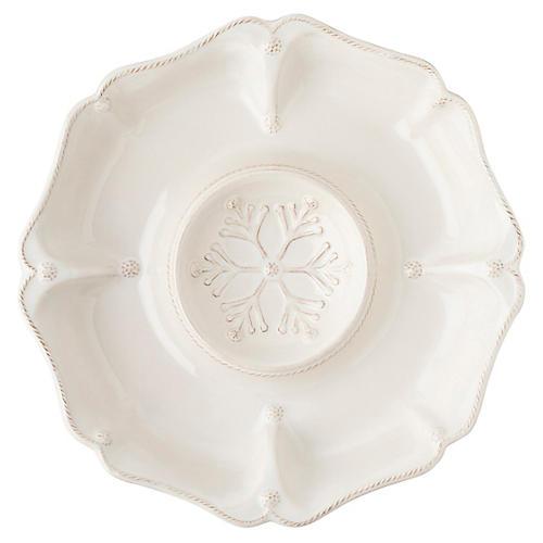 Berry & Thread Snowfall Platter, White