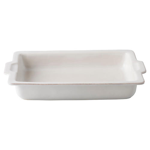 Puro Rectangle Casserole Dish, White