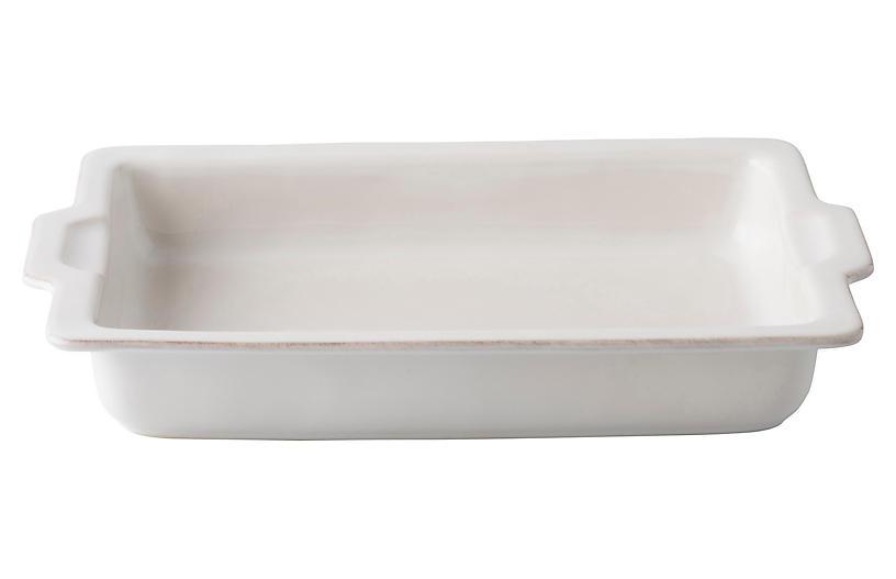 Puro Rectangle Casserole Dish, White