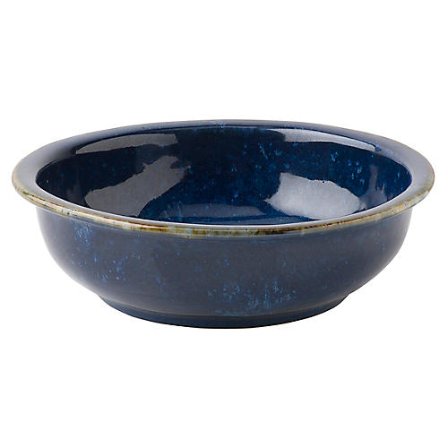 Puro Dappled Coupe Bowl, Cobalt