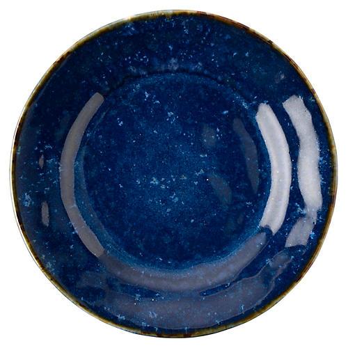 Puro Dappled Dessert Plate, Cobalt