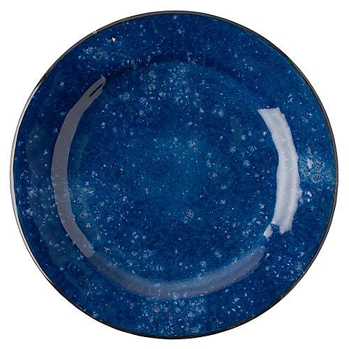 Puro Dappled Dinner Plate, Cobalt