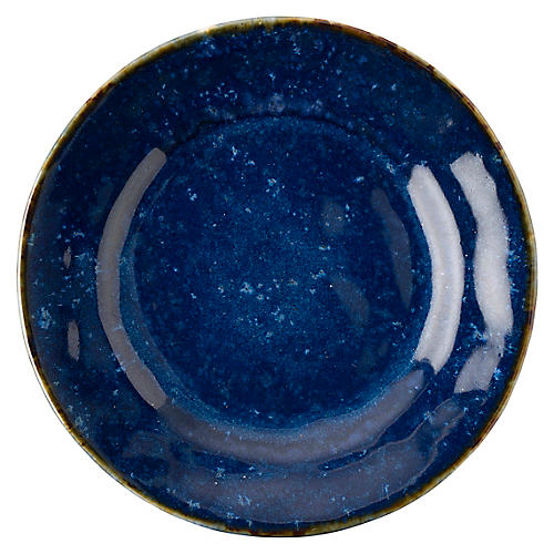 Puro Dappled Salad Plate, Cobalt