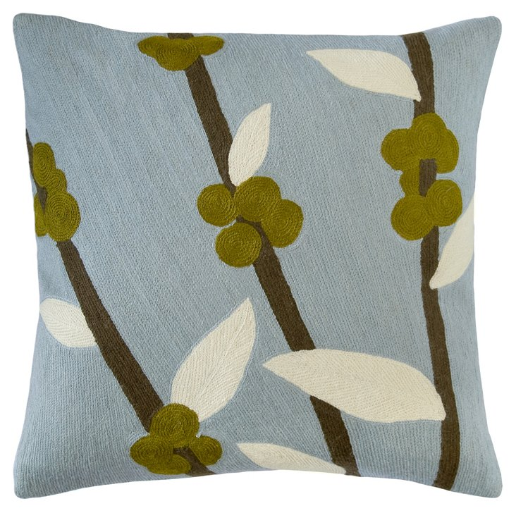 Coffee Tree 24x24 Pillow, Celadon