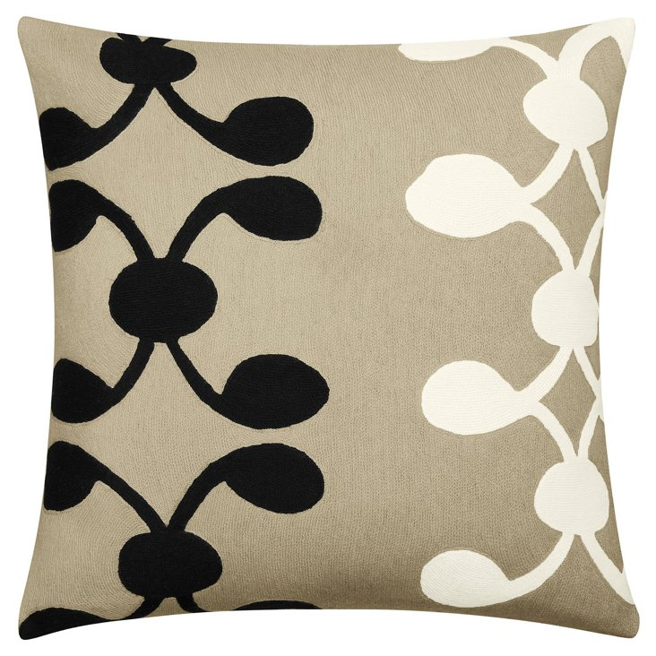 Celine 18x18 Pillow, Oyster