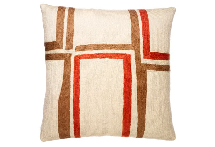 Procession 16x16 Pillow, Wheat
