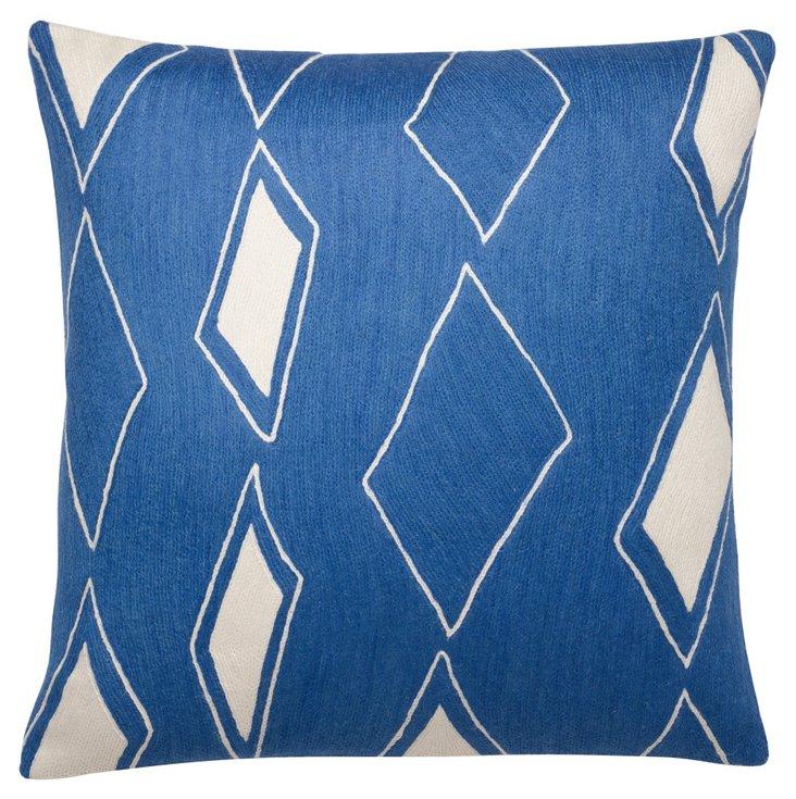 Cascade 18x18 Pillow, Marine Blue