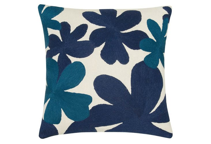 Cluster 18x18 Wool Pillow, Blue