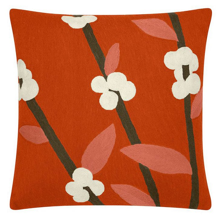 Coffee Tree 18x18 Pillow, Coral