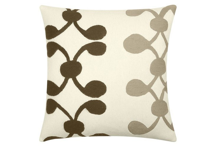 Celine 18x18 Pillow, Cream