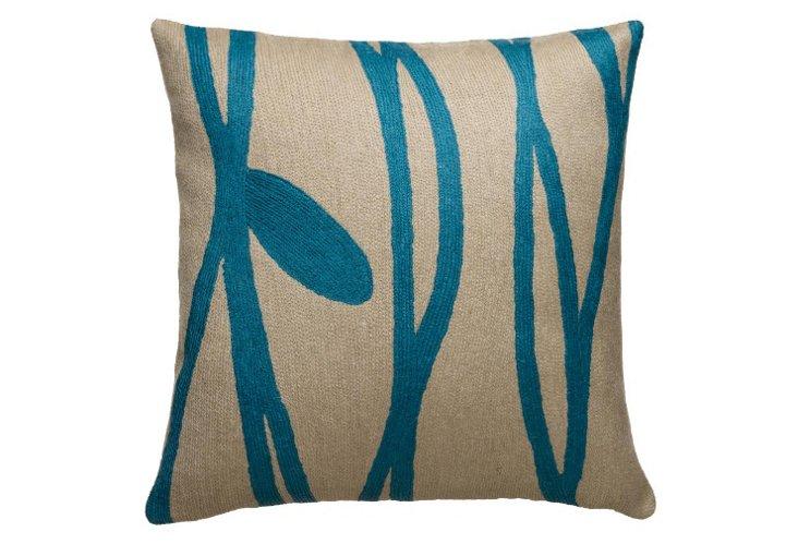 Vines 16x16 Pillow, Sand