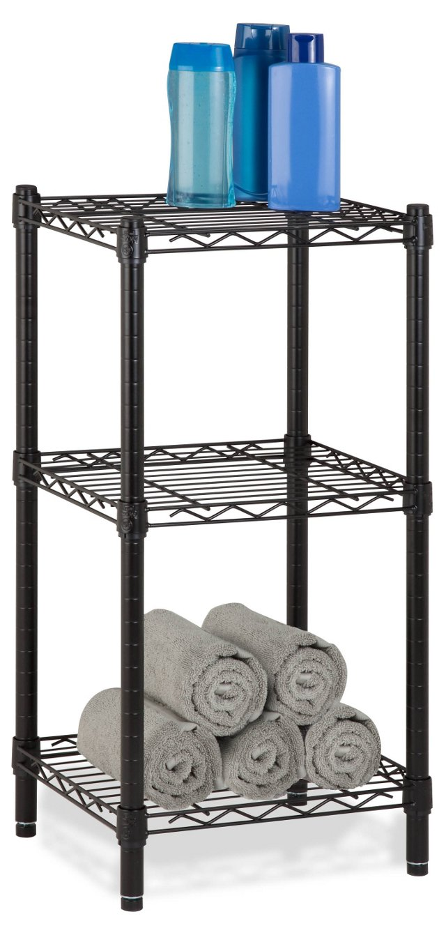 3-Tier Wire Shelving Tower