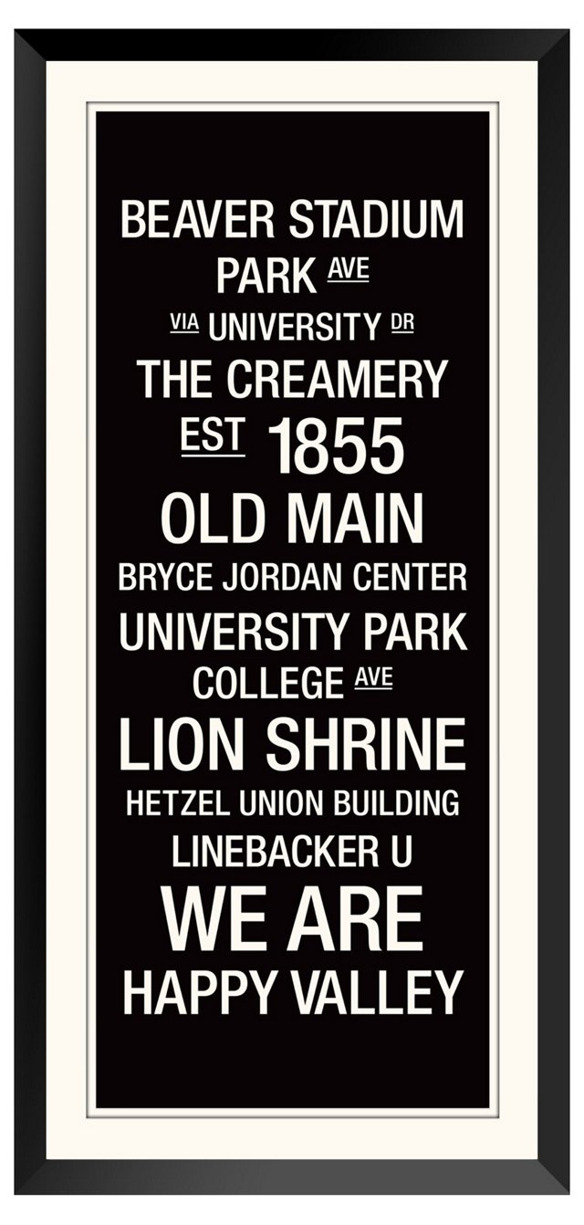 Penn State: College Town Wall Art
