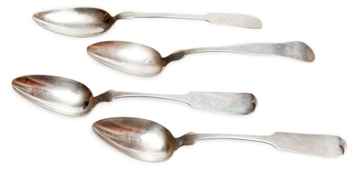 Antique Tablespoons, Set of 4