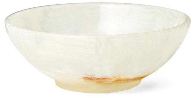 "4"" Onyx Bowl, White"