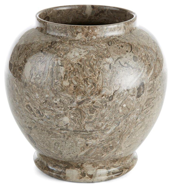 """9"""" Ginger Vase, Gray"""