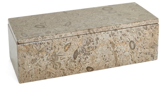 "10"" Limestone Box, Gray"