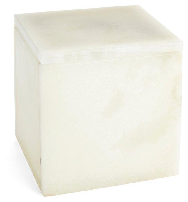 "4"" Onyx Box, White"