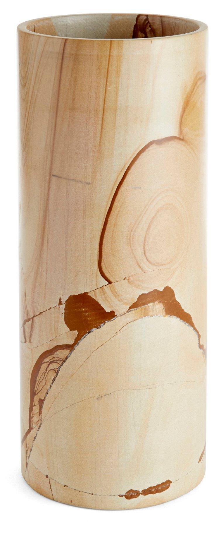 "12"" Marlstone Cylinder, Natural"