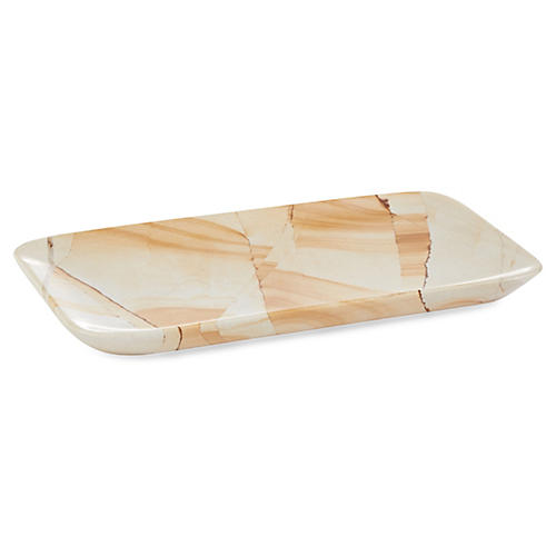 "8"" Marlstone Rectangle Tray, Natural"